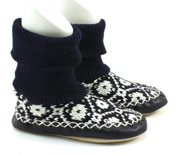 Gebreide pantoffels - Blauw