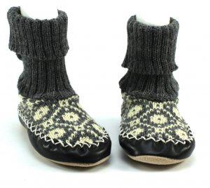 Gebreide pantoffels - Grijs